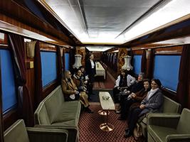 Visite du train de TIto - le Train Bleu -